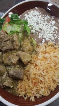 chili verde plate